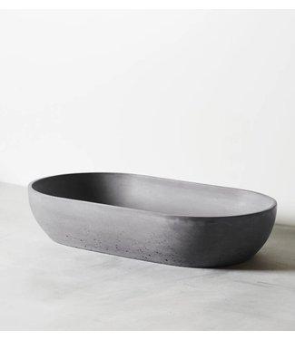 Silky Concrete waskom ovaal grijs