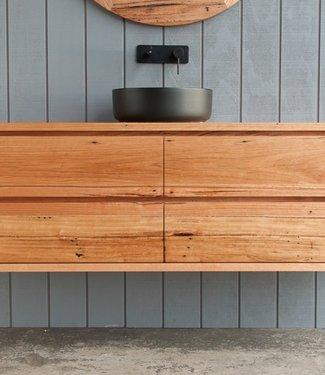 KAAN Sanitary ware atelier Eiken hout badmeubel 140cm