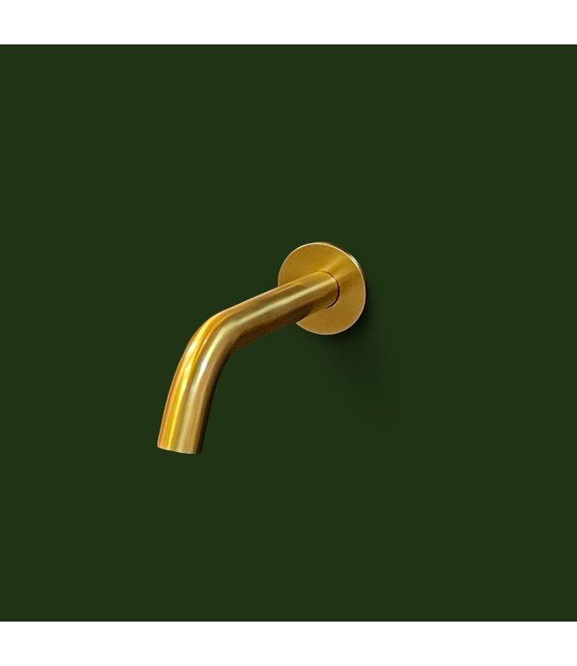Como Kraan uitloop messing goud PVD 15 cm met waterbesparende