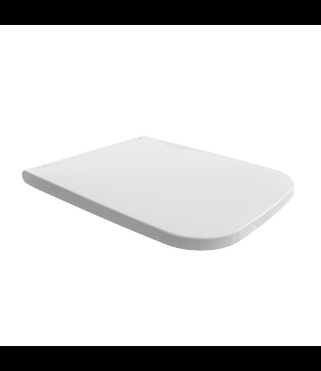 Sanitear   Rechthoekig toiletbril softclose Elemento mat wit