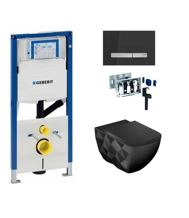Geberit  Toiletset UP320 met sigma50 drukplaat DF01
