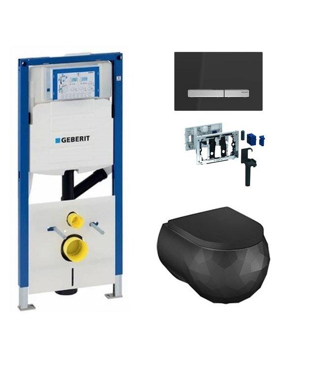 Geberit  Toiletset UP320 met sigma50 drukplaat DF02