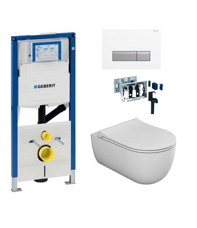 Geberit  Toiletset UP320 met sigma50 drukplaat DF05