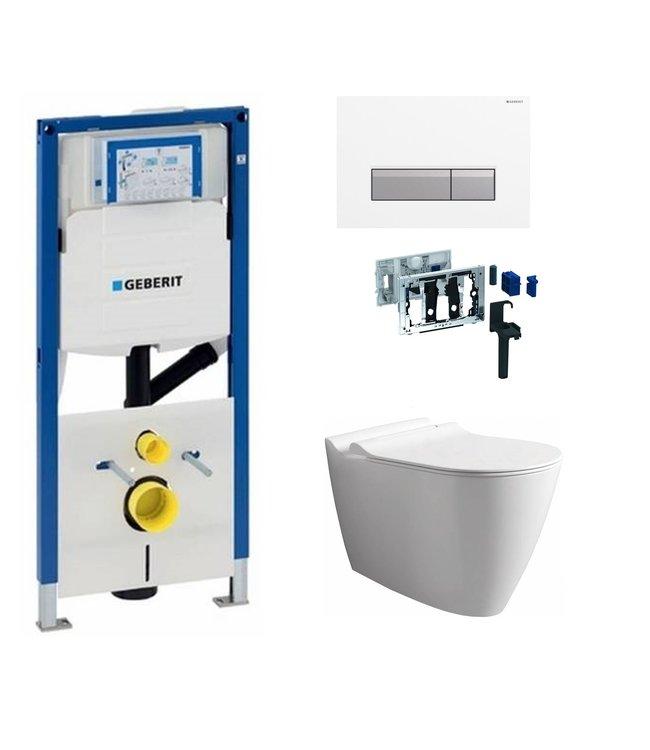 Geberit  Toiletset UP320 met sigma50 drukplaat DF07