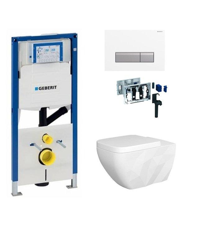 Geberit  Toiletset UP320 met sigma50 drukplaat DF09