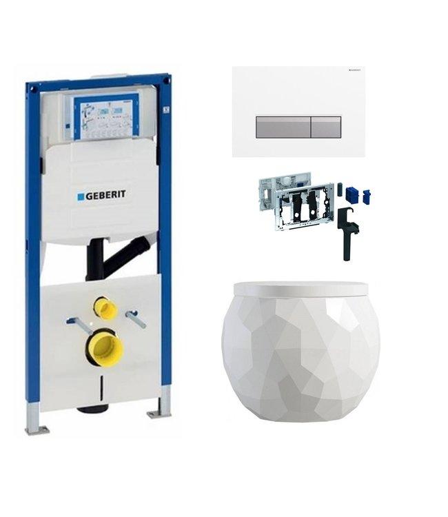 Geberit  Toiletset UP320 met sigma50 drukplaat DF08