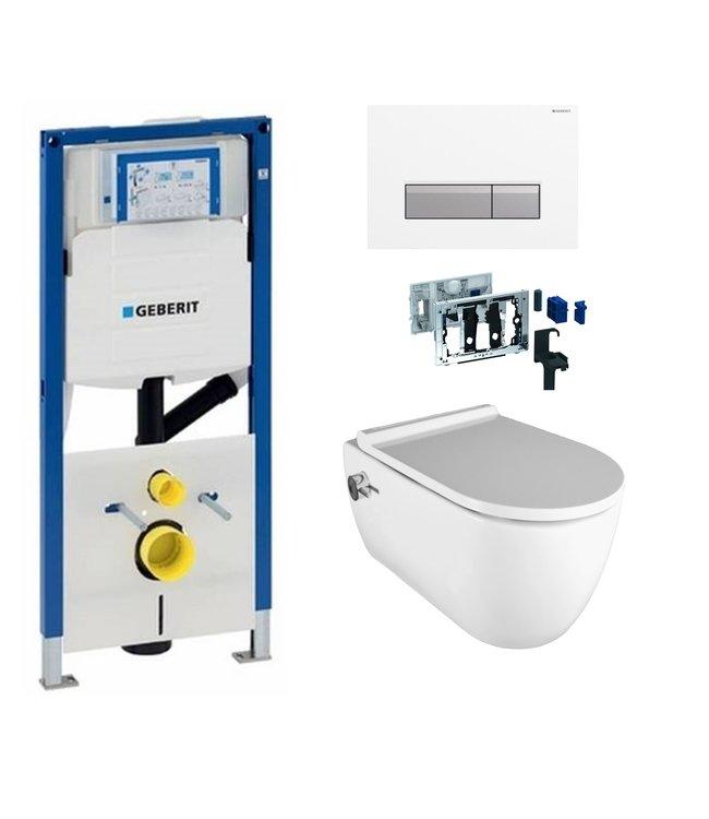 Geberit  Toiletset UP320 met sigma50 drukplaat wc met bidet toiletset DF11