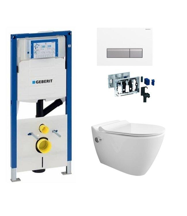 Geberit  Toiletset UP320 met sigma50 drukplaat wc met bidet toiletset DF10
