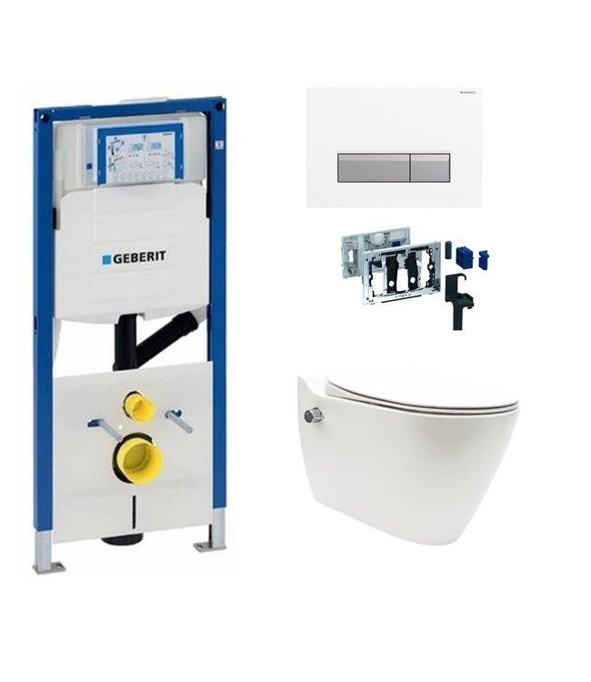Geberit  Toiletset UP320 met sigma50 drukplaat wc met bidet toiletset DF13