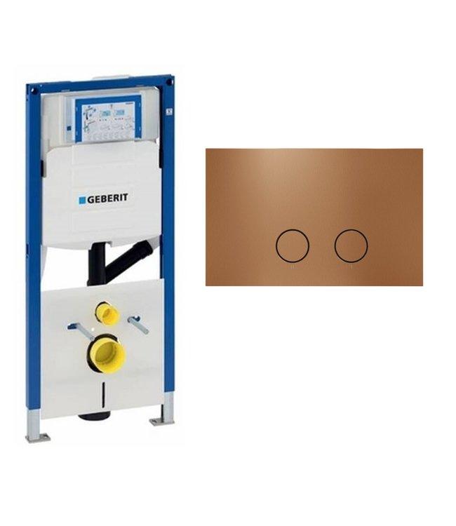 Geberit  UP320 Duofix compleet wc-element met Mood drukplaat-rose goud
