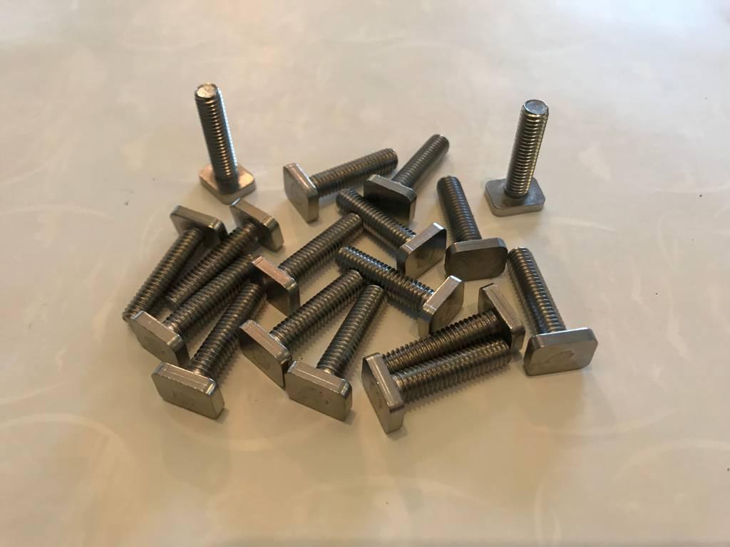 Vierkantkopbout 25mm