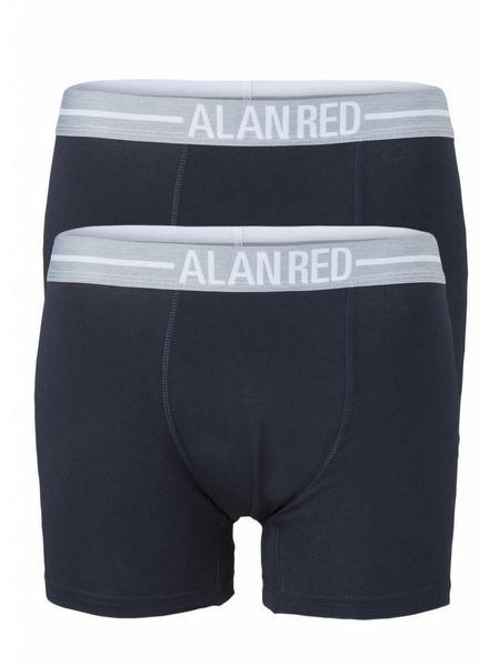 Alan Red 7001/2 06 lasting Navy 2-packboxer