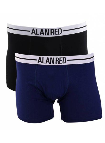 Alan Red 7001-M3 blauw/zwart  2-packboxer