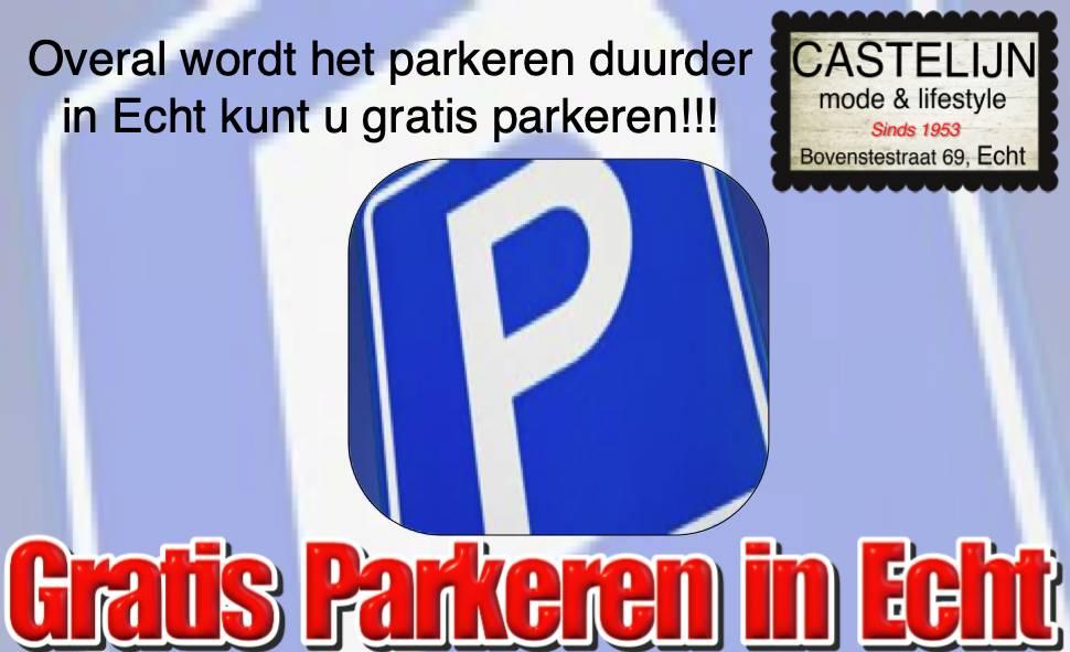 Echt gratis parkeren in Echt