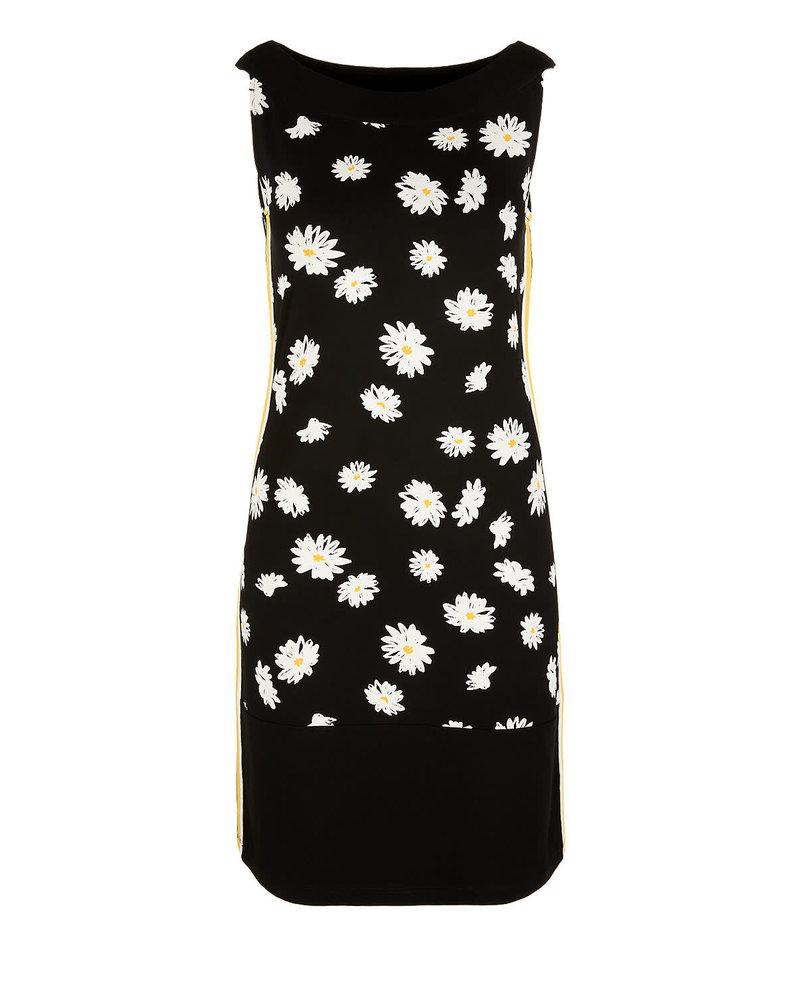 Black Label ( dames) 01.899.33.6141  99A3 (jurk zwart met bloem)