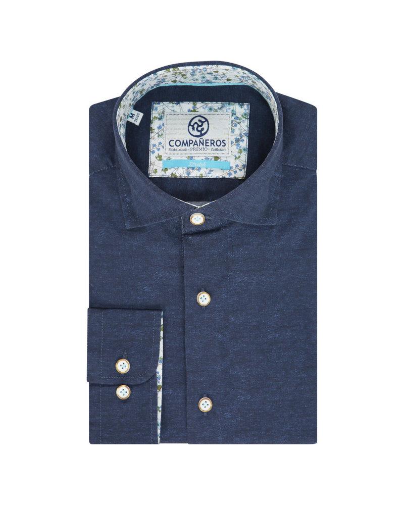 Compañeros SS20_P_SRT401_21C Premio shirt Printed uni cobalt