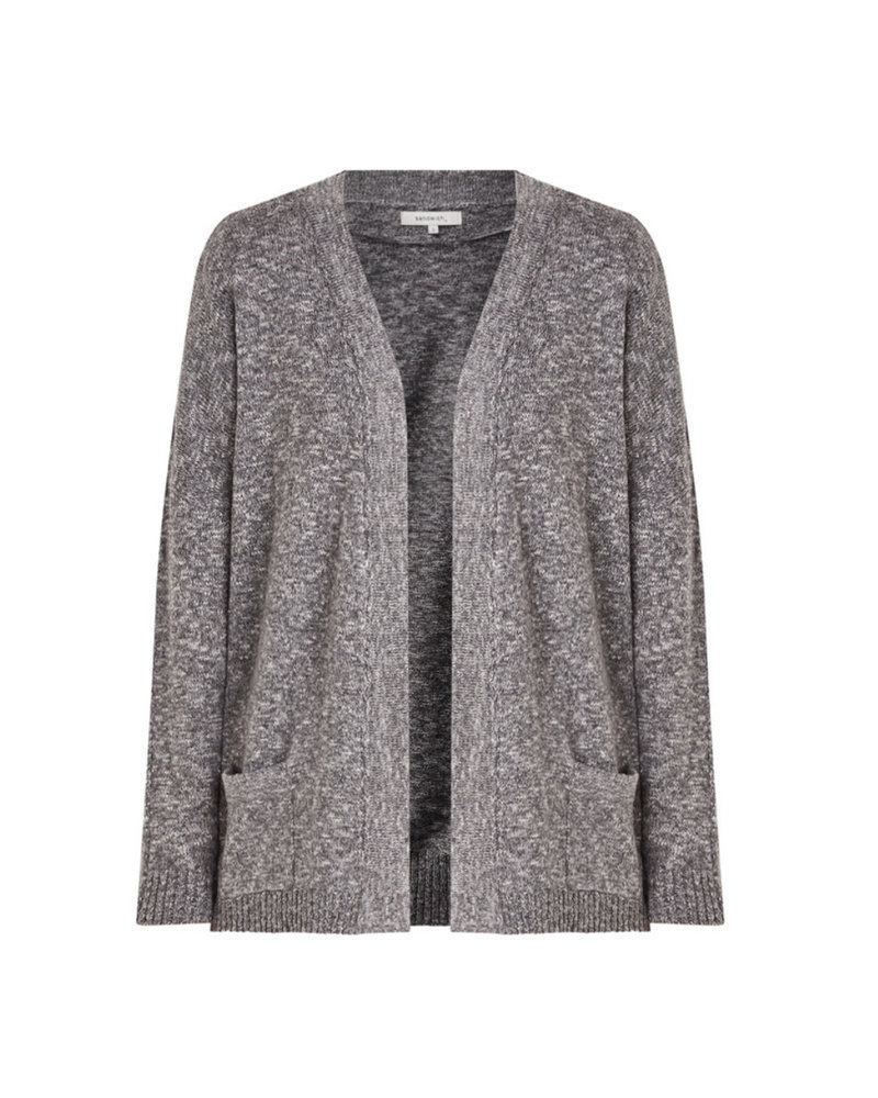 Sandwich 21001620 - smoke grey Cardigan without closure