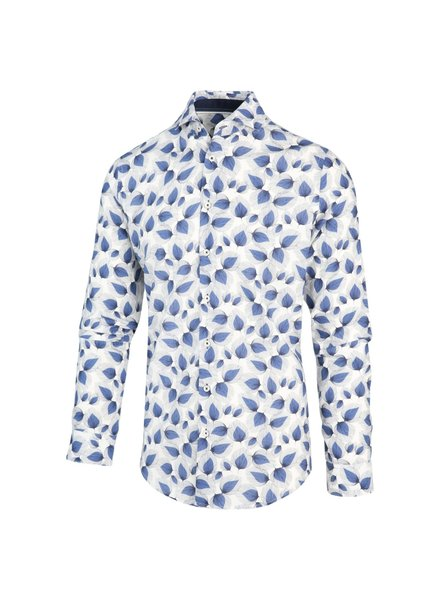 Blue Industry 2103.22 Navy (Wit Blauw Print Overhemd)