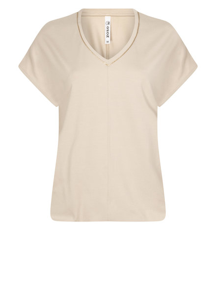 ZOSO 211 Nancy Luxury top with piping (0118 clay)