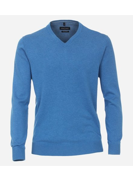 Casamoda 004430-101 trui  V-hals blauw
