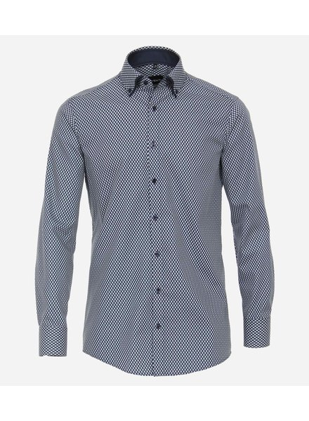 Venti 113599600-100 shirt blauw met dubbele kraag