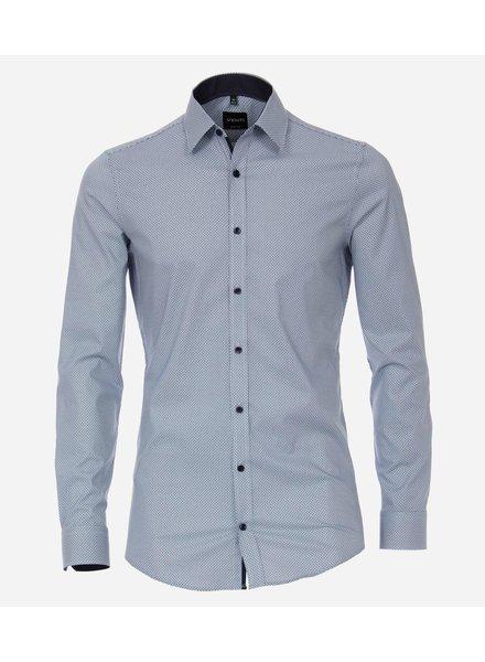 Venti 193295700-100 shirt licht blauw body fit