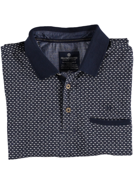 Fellows 11.3634.110 polo donkerblauw/wit