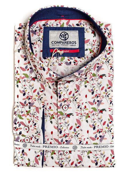 Compañeros 125-02-01 Shirt Sakura/White/LS