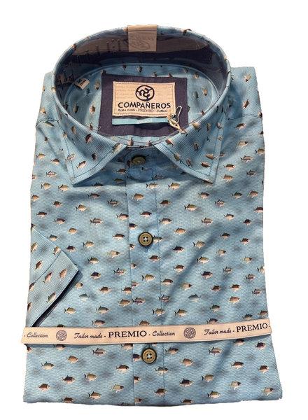 Compañeros 538-03-03 Shirt (piranhaaah / Aqua / SS