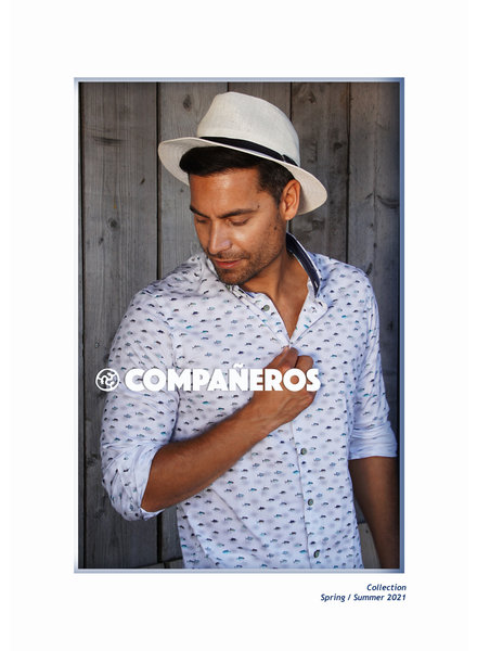 Compañeros 138-03-01 Shirt (piranhaaah / white / LS