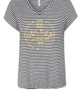 ZOSO 214 River striped shirt with print 2500/0250 stripe/summergold
