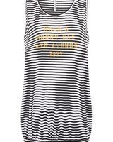 ZOSO 214 Lilian striped shirt with print 2500/0250 stripe/summergold