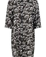 ZOSO 214 Sam Graffiti voile blouse 0016 black/white