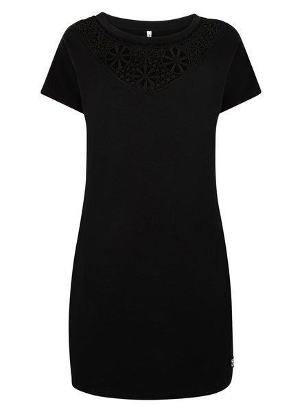 ZOSO 214 Bregje 0000-black Sweat dress with embrodenie
