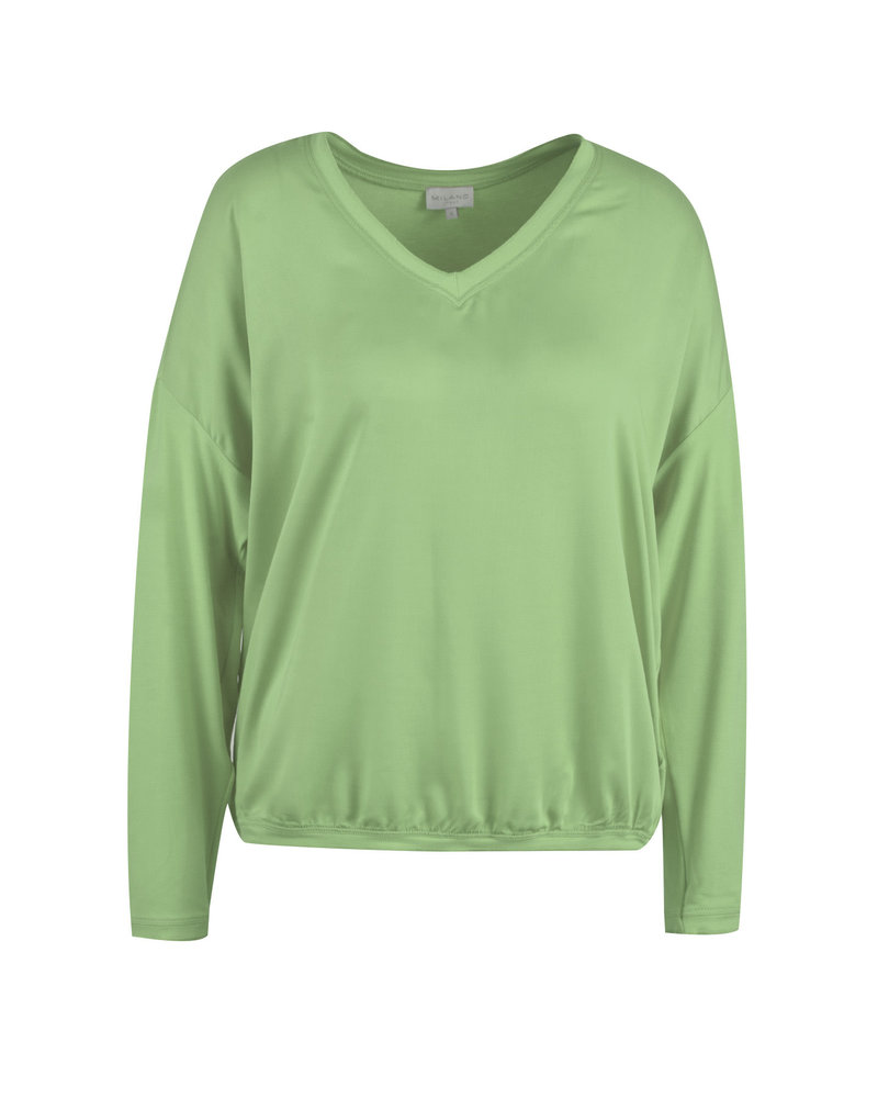 Milano 13-6468-8354-7 Shirt with woven front part: jade