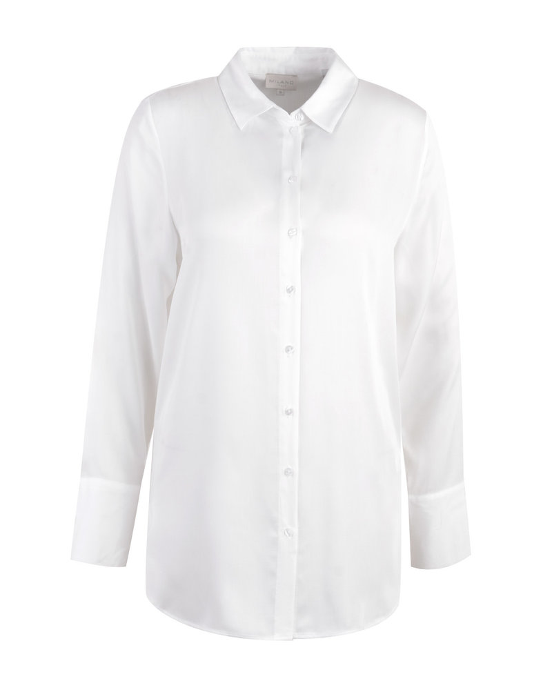 Milano 13-6468-3285-1 long blouse with collar: offwhite