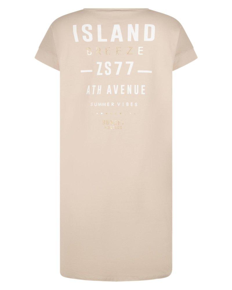 ZOSO 214 island 0007 sand sporty dress with print