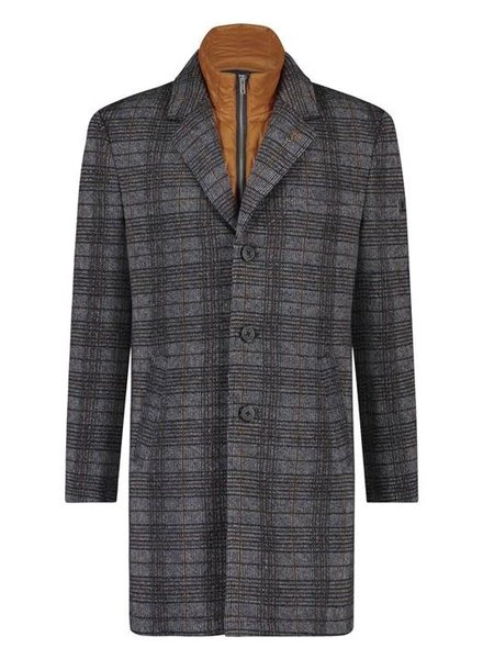 A Fish Named Fred 23.02.166 Overcoat grey check