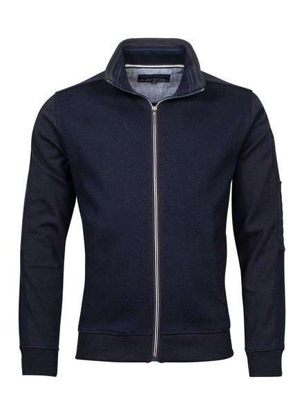 Baileys / Giordano 122229 - 105 Sweat Cardigan blauw
