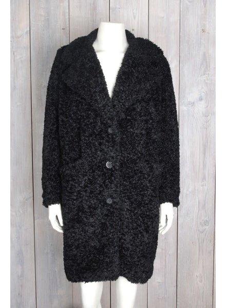 20TO 21fw401-05 Coat Fluffy Zwart