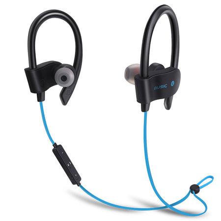 Fen Bluetooth 4.1 Sport Oordopjes- Draadloze Oordopjes -  Hoofdtelefoon - Hardlopen - Zwart/blauw