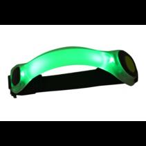 Hardloop LED veiligheidsverlichting – armband - groen