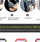 Fen Sport telefoonarmband – Hardloop armband - incl. sleutelvakje – opbergsysteem voor oordopjes – waterafstotend – groen/zwart