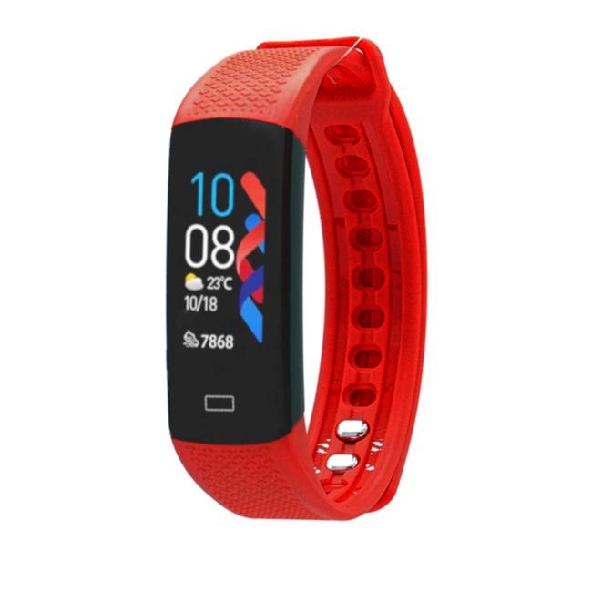 Fen Activity tracker – Hartslagmeter - Lichaamstemperatuur – Slaaptracker – Bloeddrukmeter – Rood