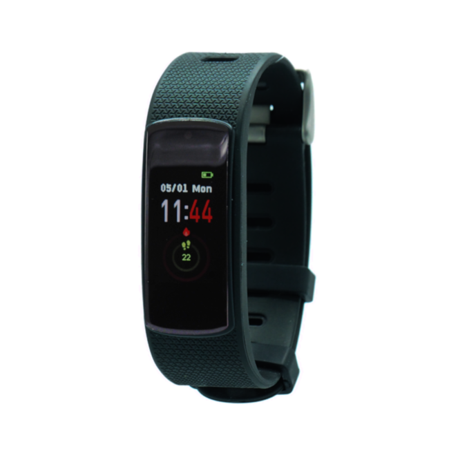Fen Activity tracker - Met hartslagmeter - Slaaptracker - I6hr - zwart