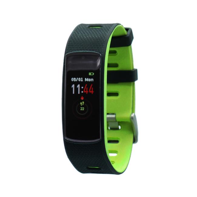 Fen Activity tracker - Met hartslagmeter - Slaaptracker - I6hr - groen/zwart