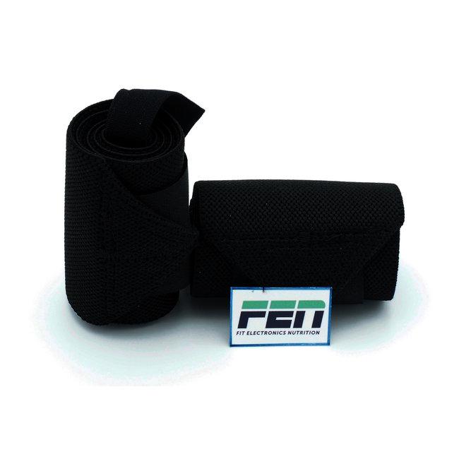 Fen Weightlifting Straps zwart – wrist straps – one size – geschikt voor crossfit, weightlifting en powerlifting