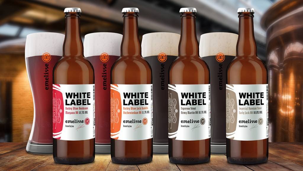 Emelisse White Labels & grote flessen Emelisse