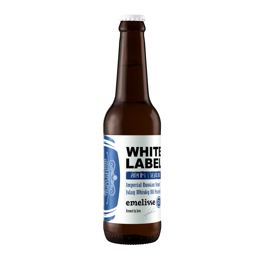 Emelisse White Label Imperial Russian Stout Whisky BA Islay Peated No.1 - 2019