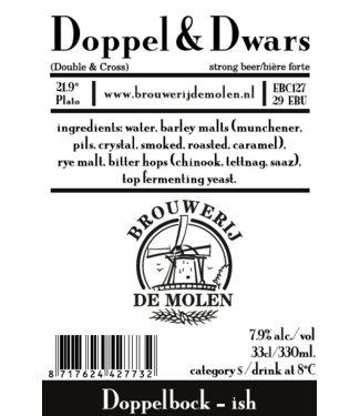 Brouwerij de Molen Brouwerij de Molen Doppel & Dwars